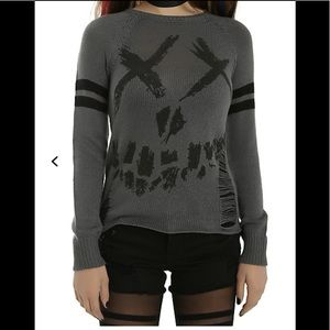 Suicide Squad Hot Topic torn accents sweater-M